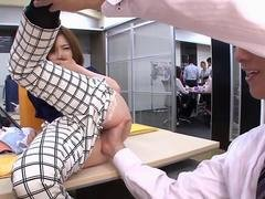 Beautiful Asian slut gets her tight pussy  licked and fingered