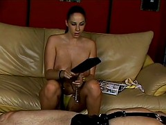 lusty stunner gianna michaels enjoys a latex spanking really