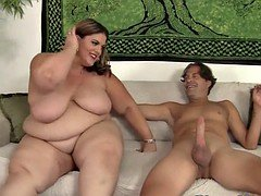 Beautiful fatty banged in missionary pose