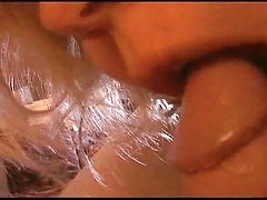 Leah teasing and sucking my cock