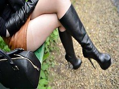 boots pantyhose outdoor