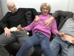 Saggy german granny pounded by 2 dudes