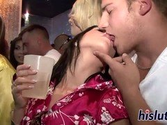 hot babes get kinky at the club clip