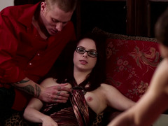 Two couples are swapping their partners in a swinging foursome