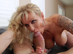 Blonde milf with big tits loves to receive an anal pounding