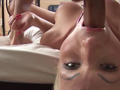 Double teamed Russian blonde gives up her asshole