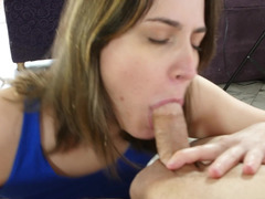 A big dick is penetrating a hot and innocent looking little slut