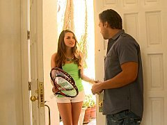 Allie Haze blowing off her friend's brother