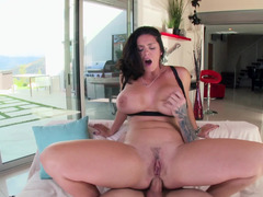 Fuck big booty Alison Tyler up her slutty asshole and she cums
