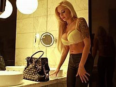 German Xxx movie star Nina Elle doing a small role playing