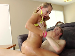 Carter Cruise on top of the man in her asshole