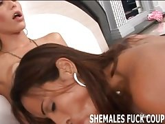 Lets double team this sexy shemale, honey