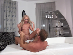 Teen chick gets fucked by talented sex partner on camera