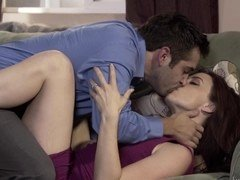 Elegant MILF gets seduced by her new lover and owned on the sofa