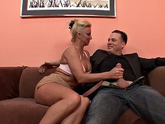 Horny Blonde Cougar Can Never Get Enough Dick!