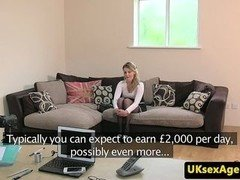 UK casting babe creampied during audition