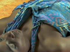 beautiful indian learns to relax with intimate massage