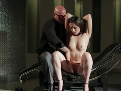 Babe gets in hands of BDSM master and does everything he wants