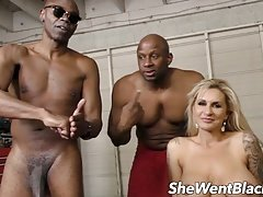 Big Tit MILF Double Penetrated by Black Cocks