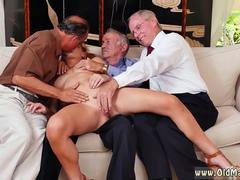 These dirty old men want to please this marvelous blonde lady