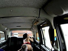 Beautiful passenger in stockings banged by fraud driver