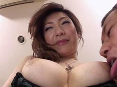 Sexy Japanese slut moan while fucking her pussy