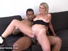 Interracial Anal Sex for Milf with Big Tits hot titfuck and cumshot