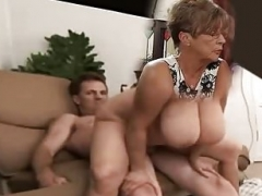 large titty soccer mom rides fuck pole