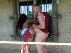 Grandpa Just Banged A Hot Breasty Teen Outdoors