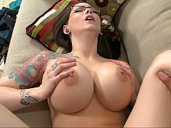 Inked up chicks take the biggest of all dicks