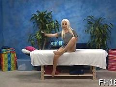 Blonde babe with a skinny body needs a nasty massage