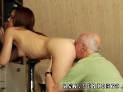 Old mom and young girl hd and 2 old men