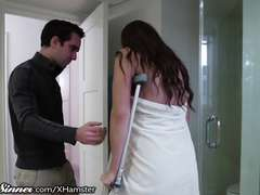 SweetSinner Stepson Helps Mother out of Shower