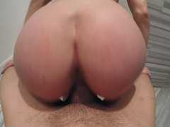 A blonde that has a sexy ass getting fucked from behind here