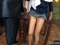Arab asian Hungry Woman Gets Food and Fuck