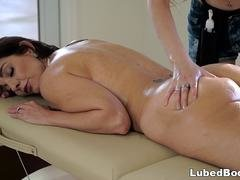 Stepdaughter does special massage on her Mom
