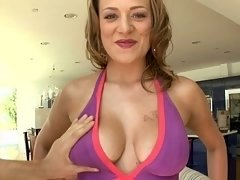Carmen McCarthy showing her natural boobs