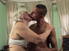 A granny with a fat ass is getting fucked in her house today