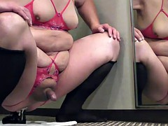prostate milking with black dildo in the hotel in January-31-2015