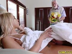 Step son ate Step mom pussy and got his cock suck