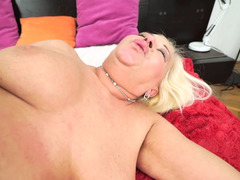 Mature blonde is having a good time with her student