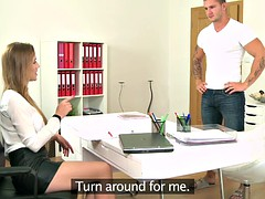 femaleagent incredible cast ends with cum on her nails