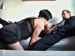 Swedish transsexual with an older man, ejaculation