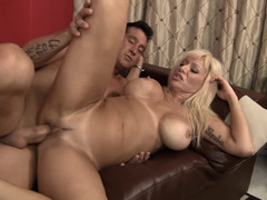 Well-rounded MILF is able to turn man crazy with her sex tricks
