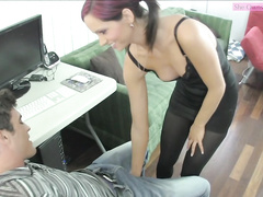 Taunting ballbusting face sitting ashely sinclair preview 1