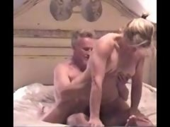 Blonde Old Wife Riding and additionally Sucking dick