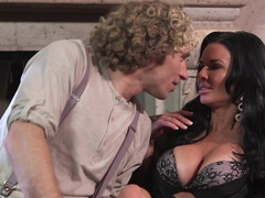 Hot porn diva and attractive man have fun together