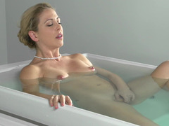 Freshly bathed and horny milf Cherie Deville makes love to him