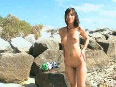 Naked body is on display and is fucked at the beach