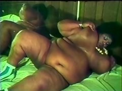 Plump black slut gives bj off 2 white ramrods